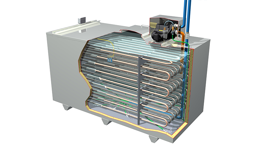 Kilkenny Cooling Systems ice builder cutaway