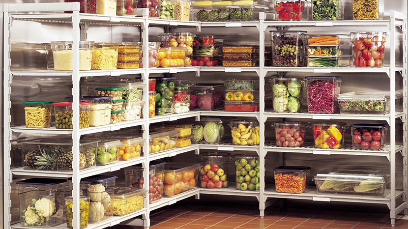 Cambro steel core PVC shelving