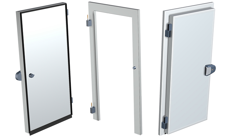 Chill and freezer doors in standard and custom sizes