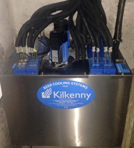 A brand new installation of a Kilkenny Cooling Systems beer cooler